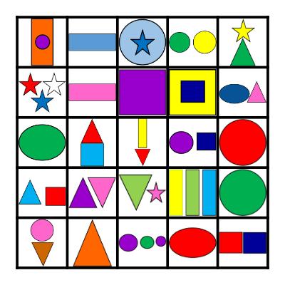 Shape Bingo Card