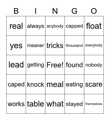 Orange - 107 Bingo Card
