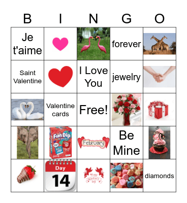 YPG Valentine Bingo Card