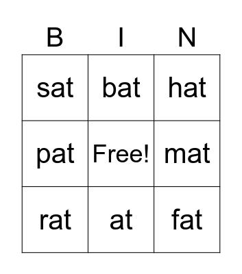 -at family Bingo Card