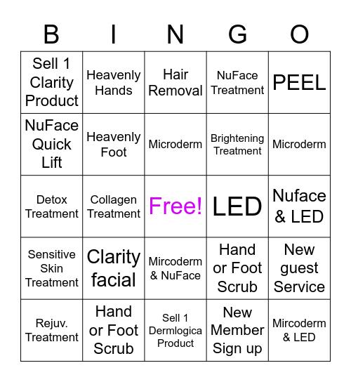 Feb Esthetician Addon Bingo Card