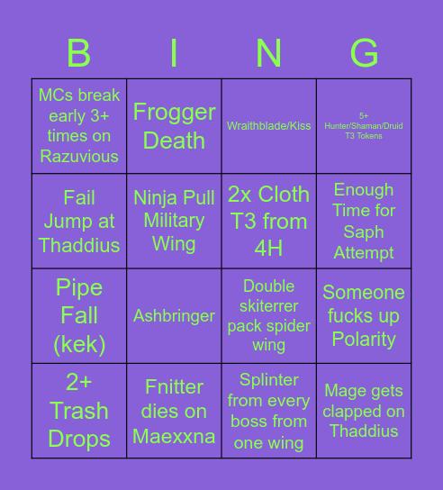 Thursday Naxx Bingo Card