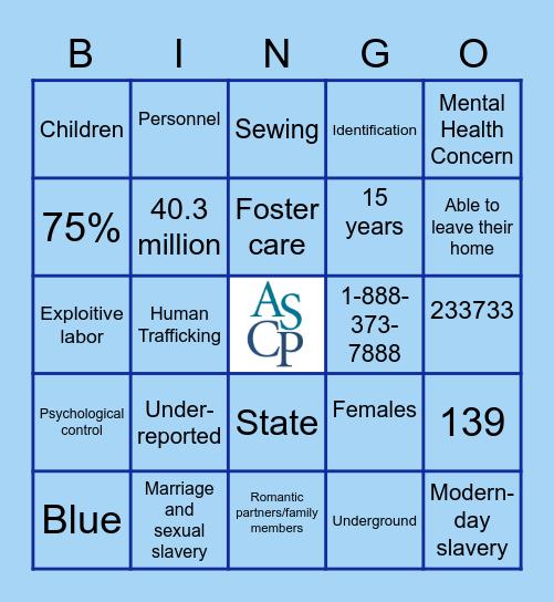 ASCP Bingo! Bingo Card