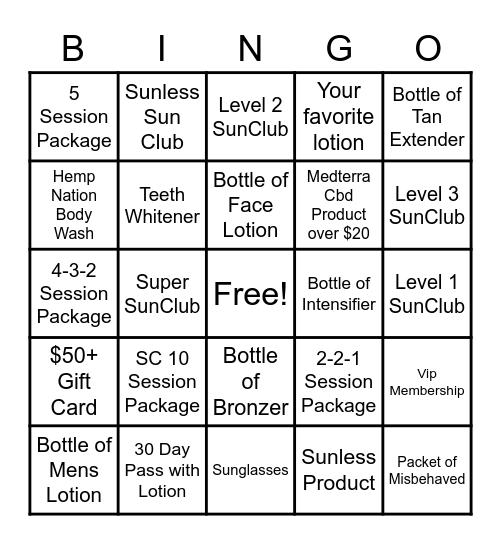 Silverton February Bingo Card