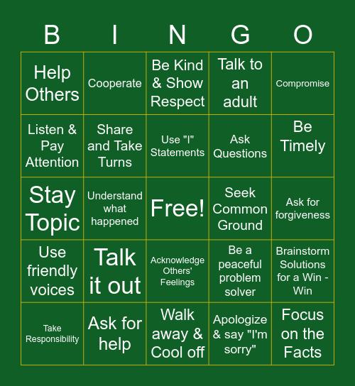 Conflict Resolution! Bingo Card