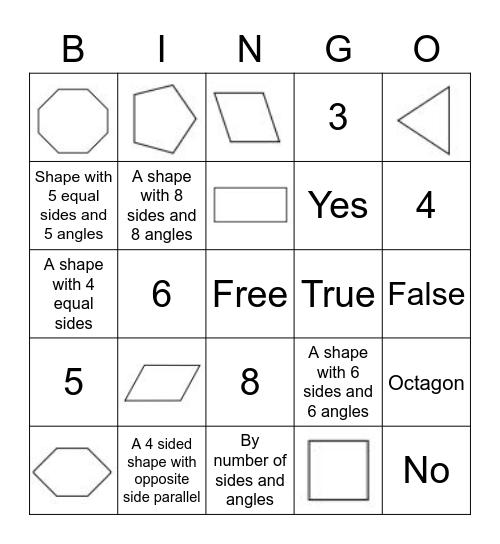 Mrs. Fray's Class - Polygon Bingo! Bingo Card
