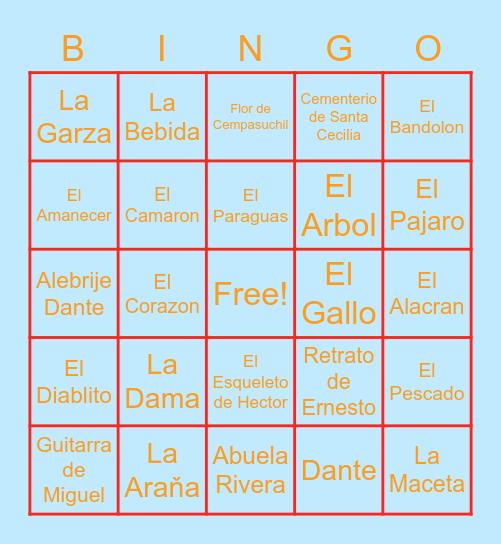 Coco Bingo Card