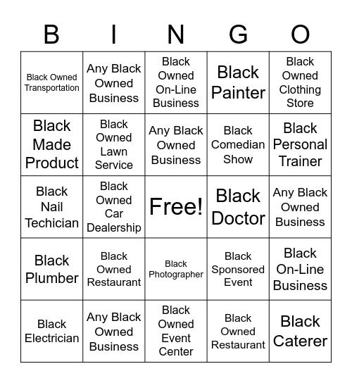 Black Dollar 365 Bingo Card