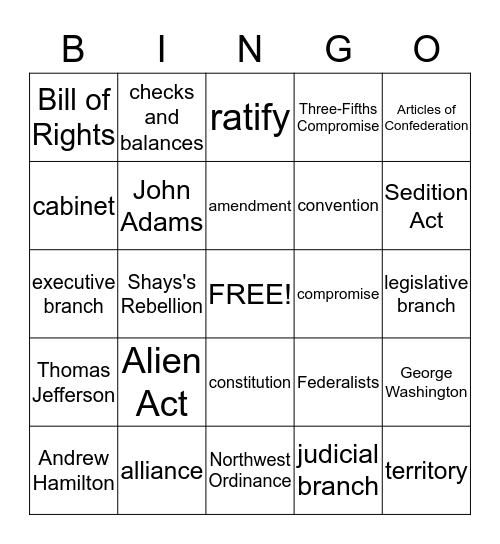 Building a New Government Bingo Card