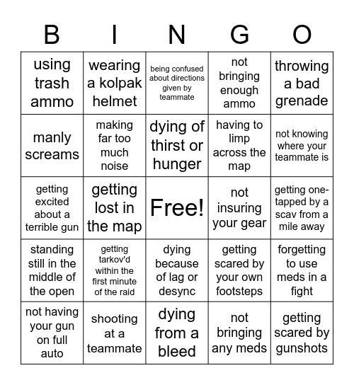 day9tv tarkov bingo Card