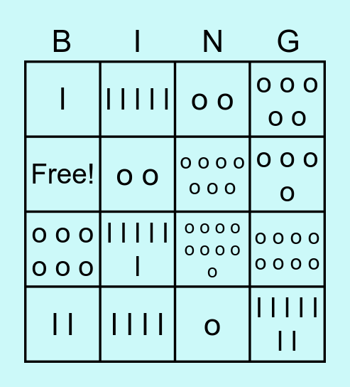 Place Value tens and ones Bingo Card