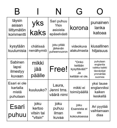 esarikokous Bingo Card