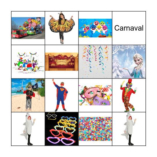 Carnaval Bingo Card