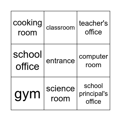Unit 8: This is my favorite place Bingo Card