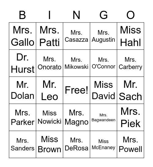 HNOM CSW21 Bingo Card