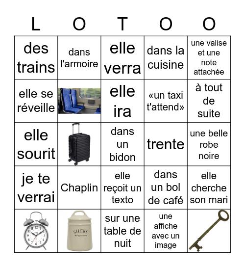 LE GRAND JEU Bingo Card