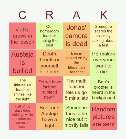 1 A daily Bingo Card