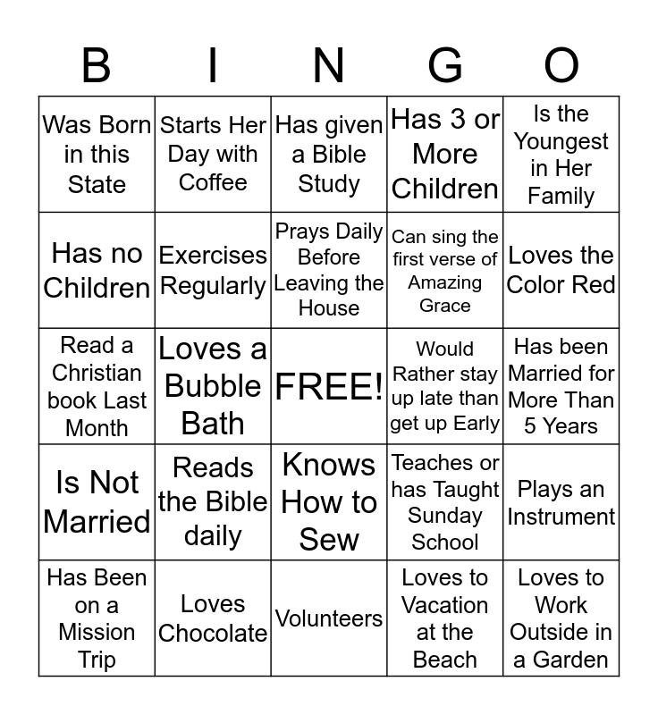 W O M E N    O F    G O D Bingo Card
