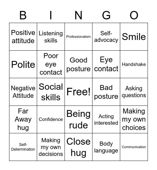 Interviews! Bingo Card
