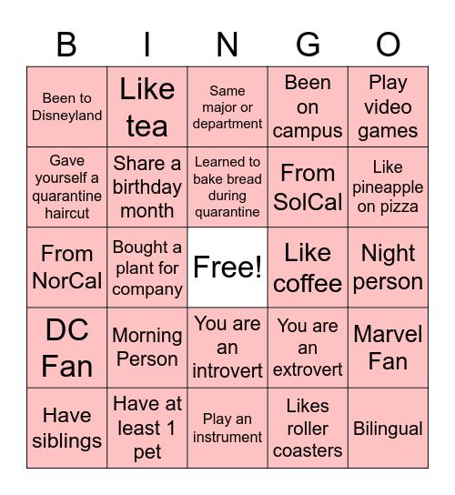 Pal-entine's Day Bingo Card