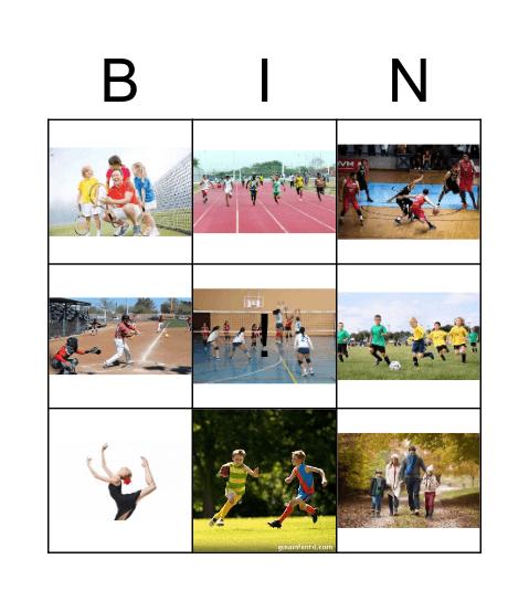 actividades saludables Bingo Card