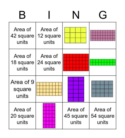 Area Bingo Card