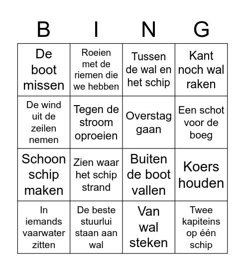Nautische uitdrukkingen bingo Card