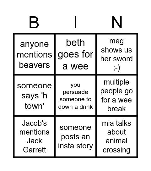 meg n rozzers b day bingo Card