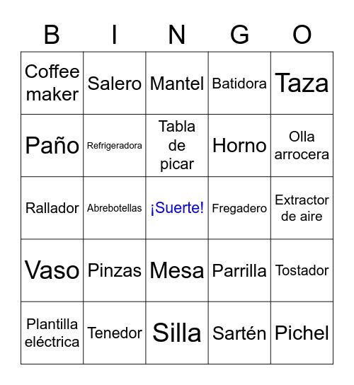 La Cocina Bingo Card