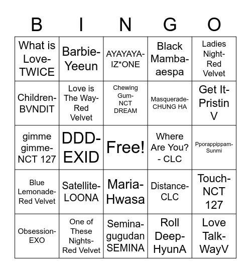 @yeeunssamoyed Bingo Card