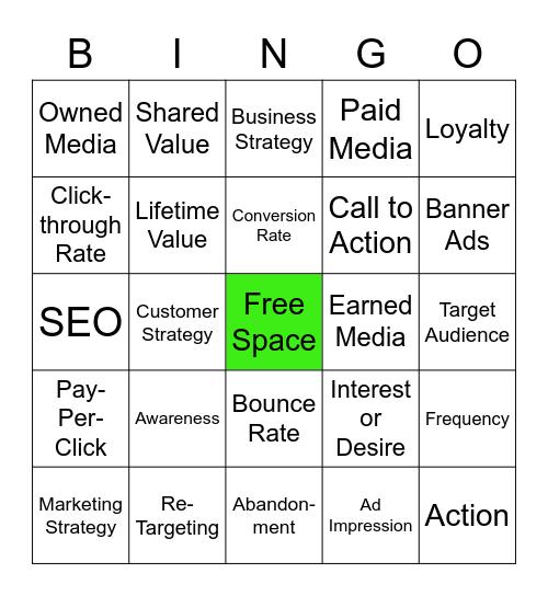 H Mktg. 2 - Unit 1 Quiz Bingo Card