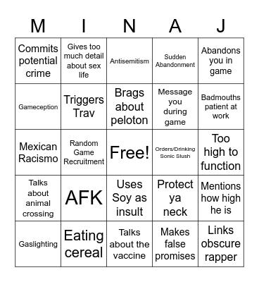 Yadingo Bingo Card