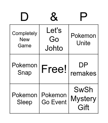 Pokemon Bingo Card