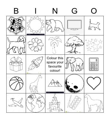 Colour-me-in Bingo! Bingo Card
