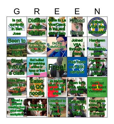 Green Fam BINGO Card
