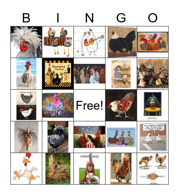 Chickens Bingo Card