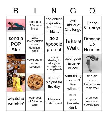 popsquatch test Bingo Card