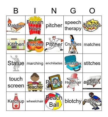 Medial /CH/ Bingo Card