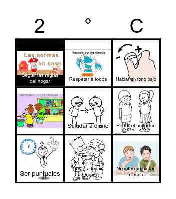 Lotería de Valores PNCE Bingo Card