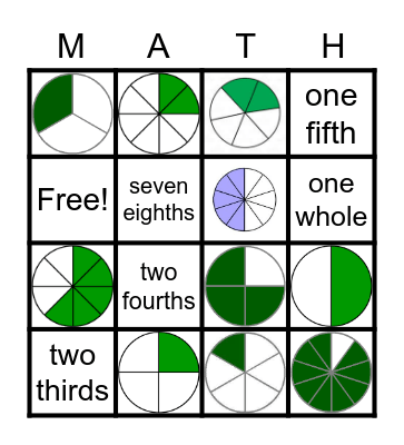 FRACTION FRIDAY Bingo Card