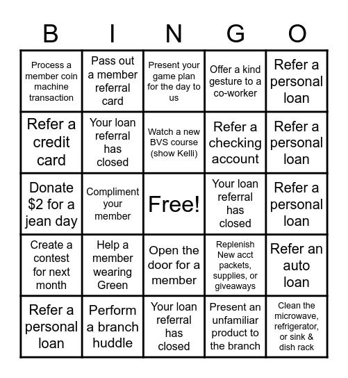 March Lingo Bingo Card