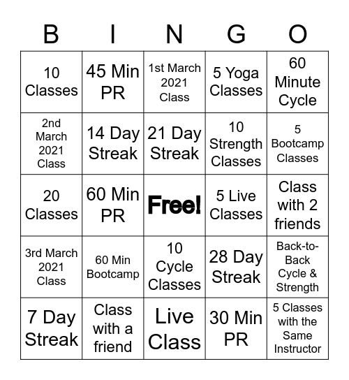 PeloDAMES Bingo Card