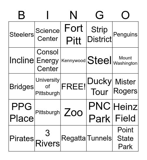 Pittsburgh  Bingo Card