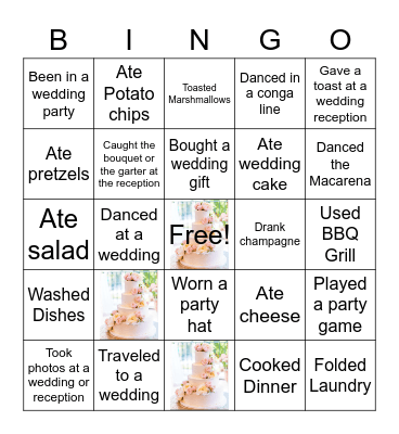 Jenna's Wedding Bingo! Bingo Card