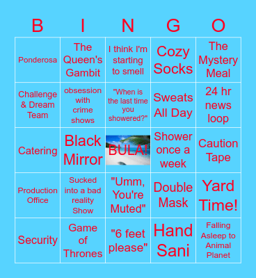 Surviving Quarantine Bingo Card