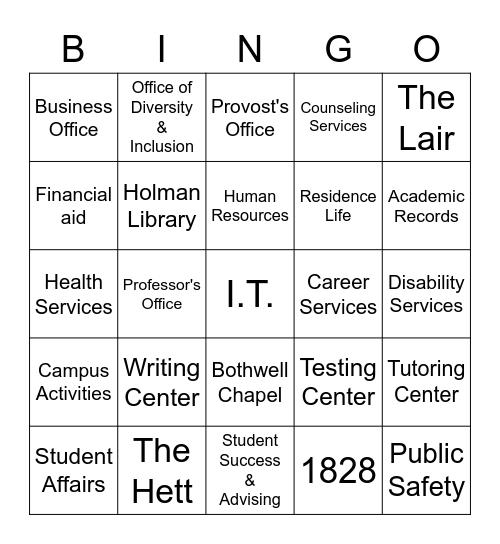 McKendree Bingo Card