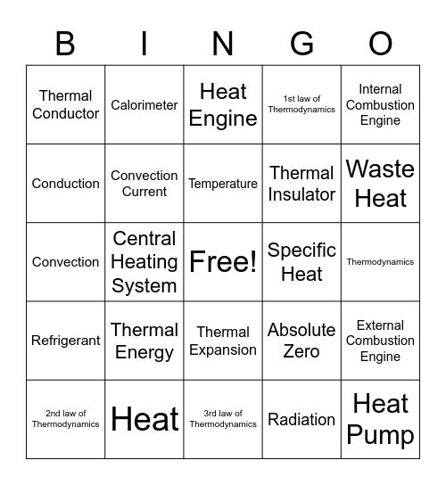 Ch 16 Review Bingo Card