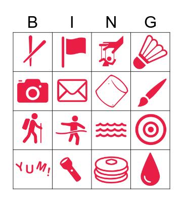 Spring Break Bingo Card