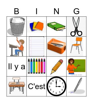 L'école Bingo Card