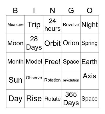 Science 10.2 Bingo Card